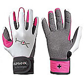 HumanX X3 Womens Competition Full Finger WristWrap Gloves - Pink & White