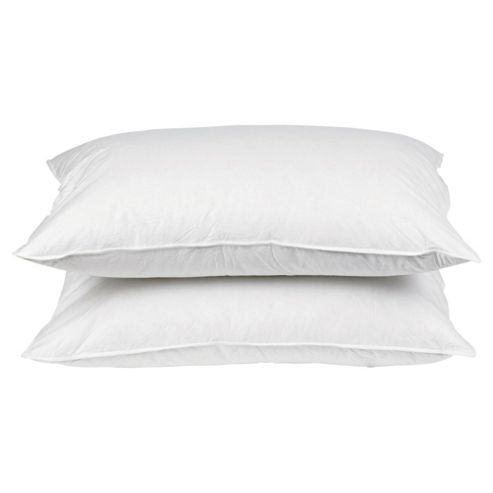 Buy Tesco Firm Anti Allergy Pillow Twinpack Cotton Cover