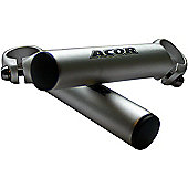 Acor Mini Alloy Bar Ends: Silver.