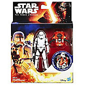 Star Wars The Force Awakens Armour Up 9cm First Order Flametrooper Figure - Action Figures