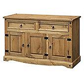 Home Essence Corona Medium Sideboard in Solid Pine
