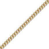 9ct Solid Gold premium Curb Chain Necklace in 22 inch - 6.2mm gauge