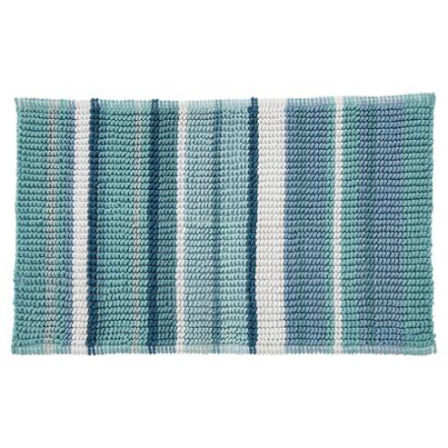 buy teal stripe bath mat from our bath mats range tesco. Black Bedroom Furniture Sets. Home Design Ideas