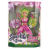 Sparkle Girlz Floral Fairies Doll with Accessories - Green Hair & Pink Tutu