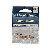 Beadalon Crimp Bead 2.5mm Gold Platet 1.5G