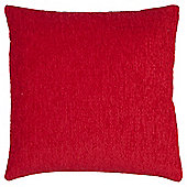 Tesco Chenille Red Cushion