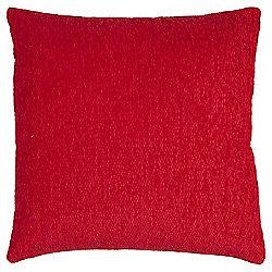 Tesco Chenille Red Cushion