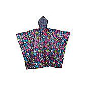 Patterned Poncho Waterproof Jacket
