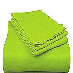 Basics Polycotton Fitted Sheet - Lime, Single