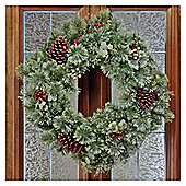 Tesco 24inch Wreath with White & Red Berries