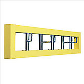 Spin - Horizontal Wall Coat Hooks / Towel Hanger - Yellow