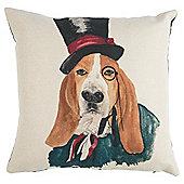 Top Hat Hound Cushion