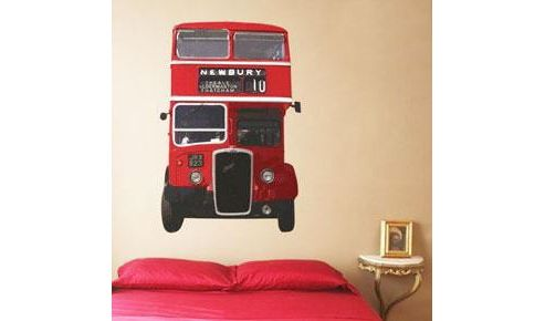 British London Bus Wall Sticker