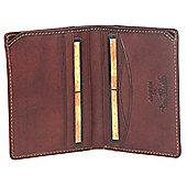 Tony Perotti Italian leather note case slim wallet for men. Brown.