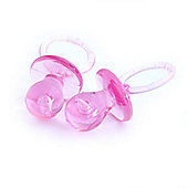 Baby Shower Pink Crystal Dummy 5cm (4pk)