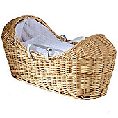 Isabella Alicia Natural Izzy-Pod Moses Basket (Bubble White)