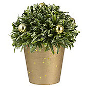 Gold Artificial Topiary Christmas Table Decoration