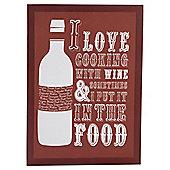 Wine Bottle Kitchen Canvas 25 x 35cm