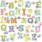Happi Animal Alphabet Wall Stickers