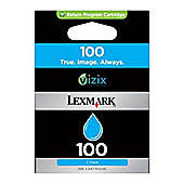 Lexmark 100 Cyan Return Program Ink Cartridge