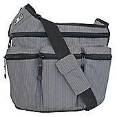 Diaper Dude Original Messenger I Changing Bag Grey Pinstripe