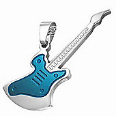 Urban Male Men's Electric Guitar Pendant In Stainless Steel