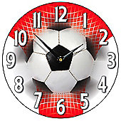 Smith & Taylor Football Wall Clock in Red and White