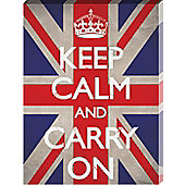 Keep Calm and Carry On Union Jack Large Canvas Print