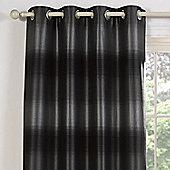 Julian Charles Soho Silver Luxury Jacquard Eyelet Curtain -168x137cm