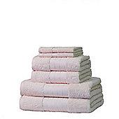 Dreamscene Luxury Egyptian Cotton 6 Piece Bath Towel Set - Cream