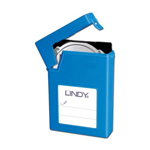 Lindy 3.5 Inch HDD Storage Case Blue