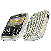 ProGel Diamond HEX Skin Case - BlackBerry 8520 Curve, 9300 3G - Solid Silver