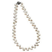 Freshwater Pearl Rose Clasp Necklace