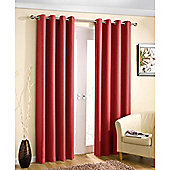 Enhanced Living Wetherby Eyelet Red Curtains 117X137cm