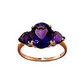 QP Jewellers 4.0ct Amethyst Vogue Ring in 14K Rose Gold