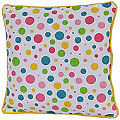 Homescapes Cotton Multi Colour Polka Dots Scatter Cushion, 45 x 45 cm