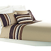 Dreams 'N' Drapes Curtina Harvard Quilt Set in Chocolate - Single
