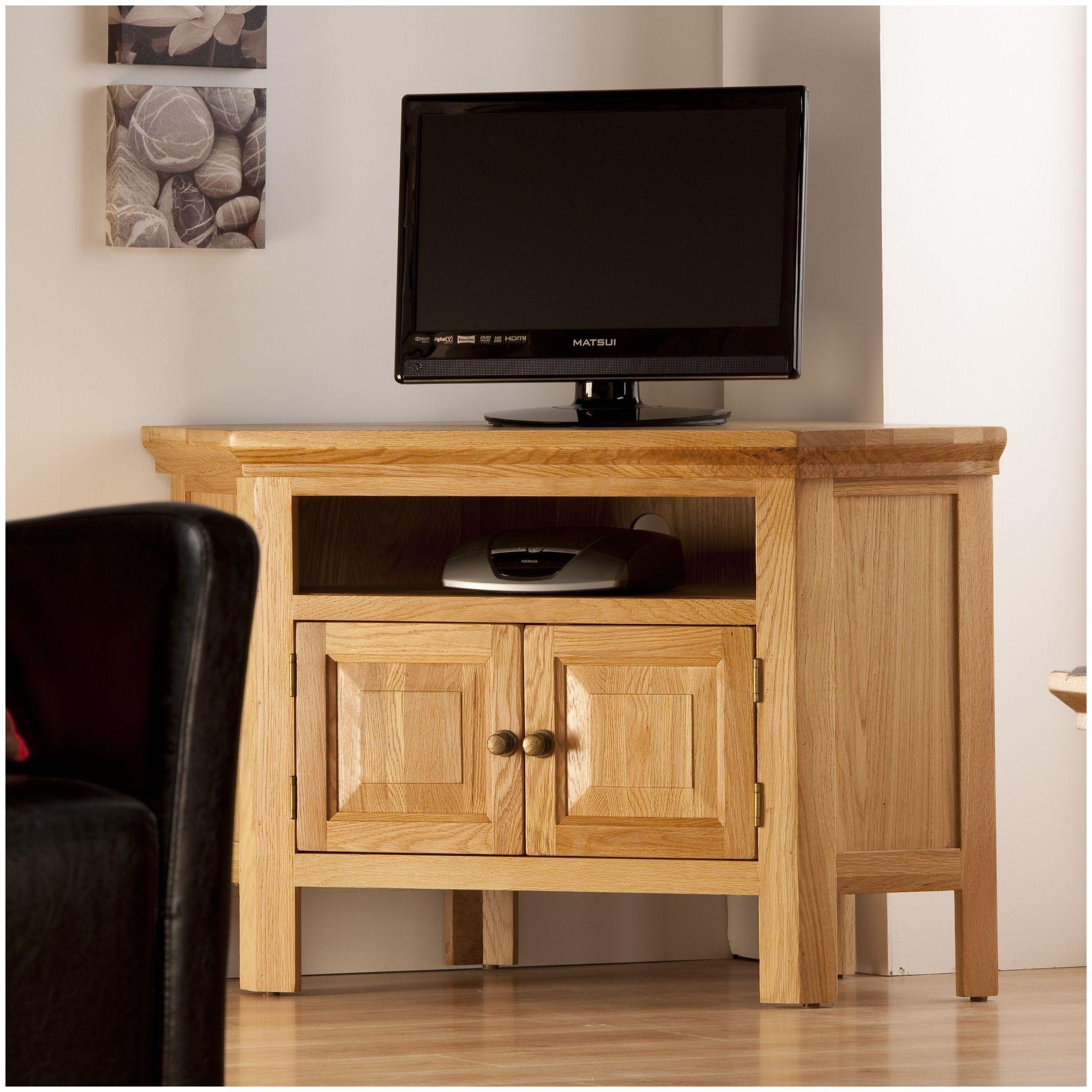 World Furniture Provence Oak Corner TV Stand at Tesco Direct