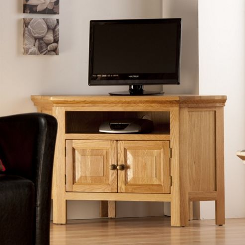 World Furniture Provence Oak Corner TV Stand