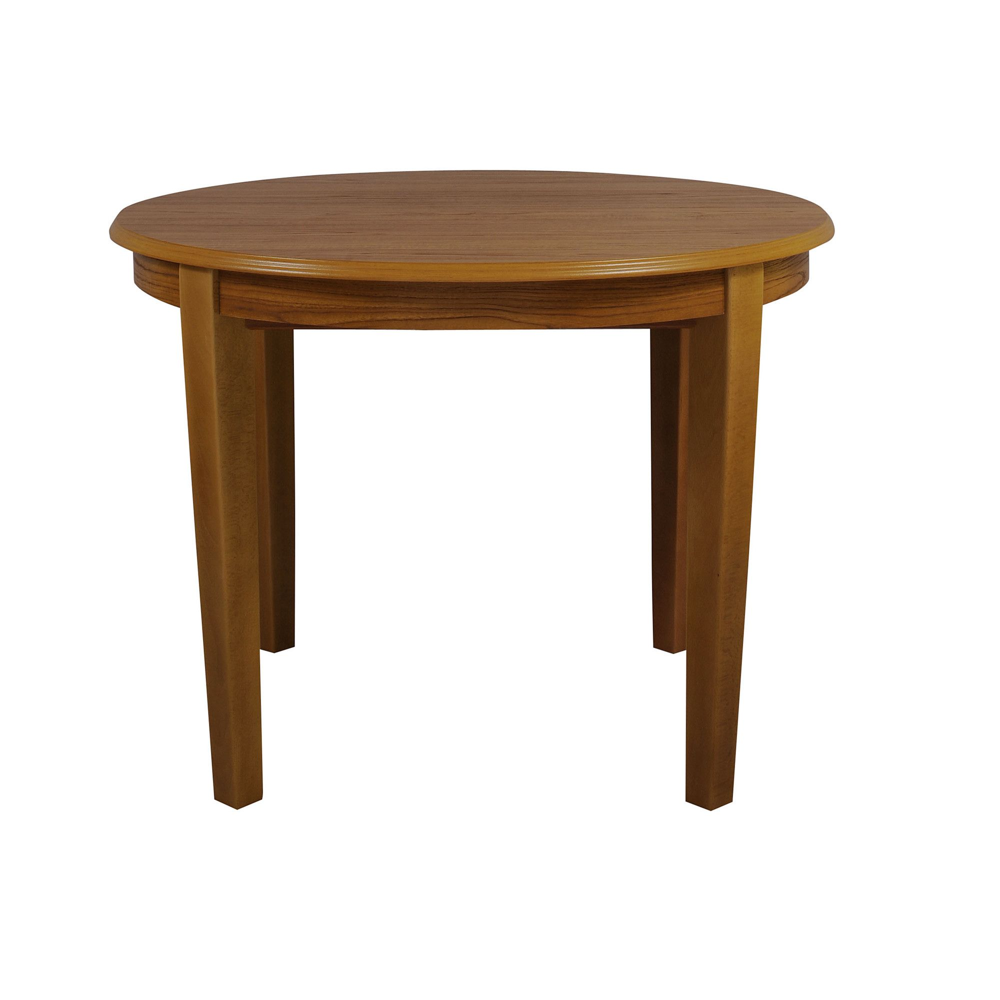 Caxton Tennyson Round Dining Set with 4 Padded Back Dining Chairs in Teak - Oyster at Tesco Direct