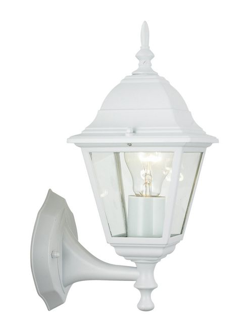 Brilliant Newport 1 Light Outdoor Wall Lantern - White