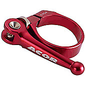 Acor CNC Alloy Q/R Seat Post Clamp: Red 34.9mm.