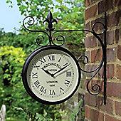 Bentley Garden Black Paddington Double Sided Wall Clock