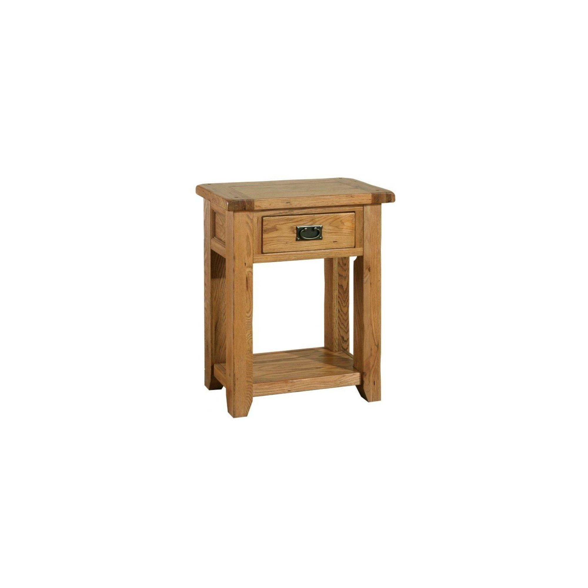 Kelburn Furniture Bordeaux Console Table in Medium Oak Stain and Satin Lacquer