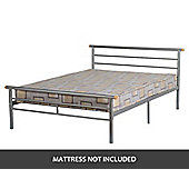 ValuFurniture Orion 4 6 inch Double Bed in Silver