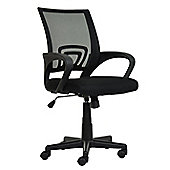 Flux Black Mesh And Fabric Office Chair