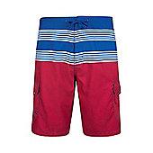 Ocean Mens Striped Boardshorts - Blue