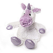 Intelex Warmies Heatable Sparkly Unicorn White Microwavable Cozy Plush Soft Toy