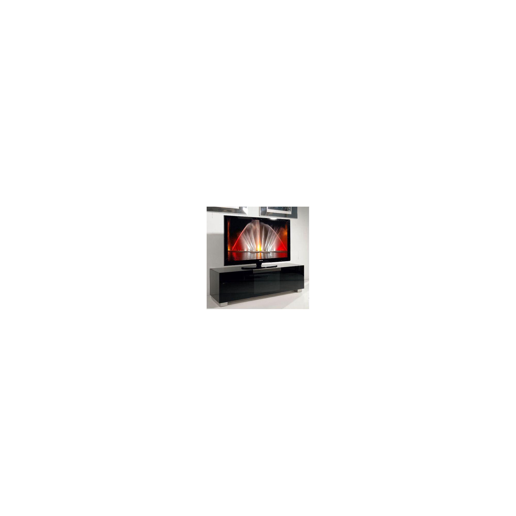Triskom Stainless Steel / Glass TV Stand for LCD / Plasmas - Black Glass at Tesco Direct