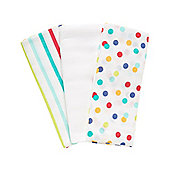 Mothercare Baby's Little Artist Extra Large Muslin Cloths - 3 Pack